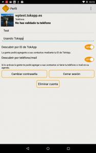 Configuración App mensajería