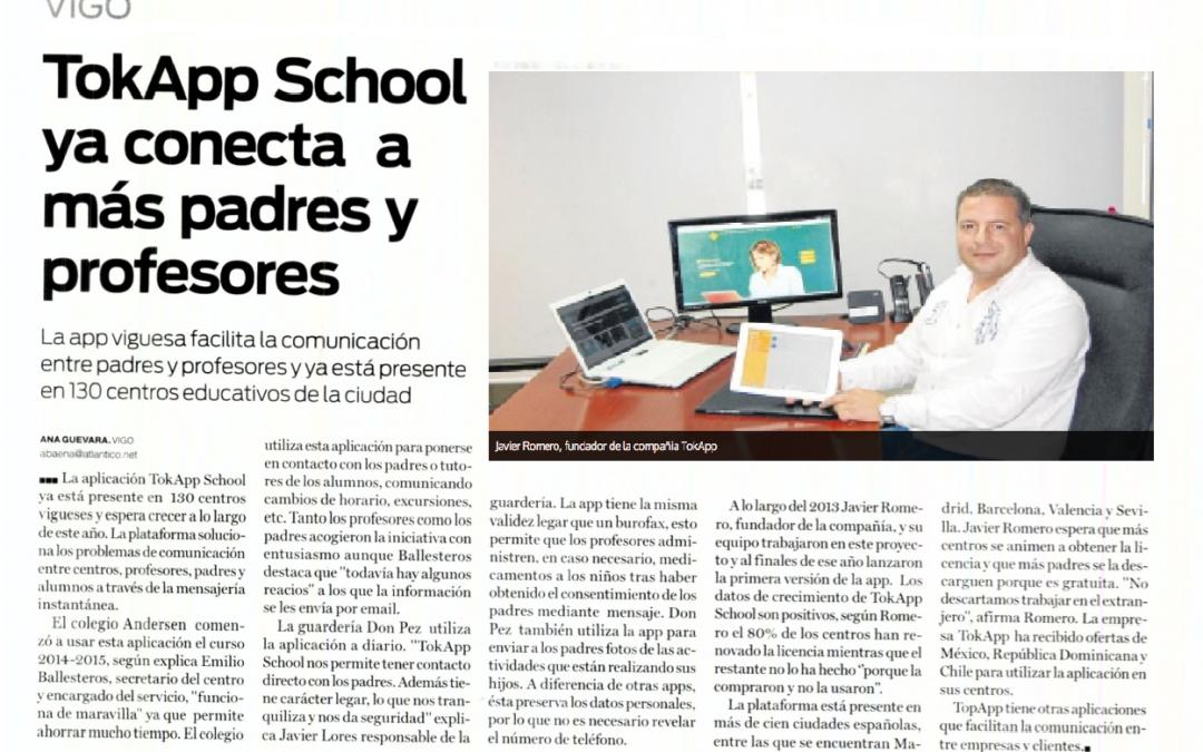 TokApp School en Diario Atlántico