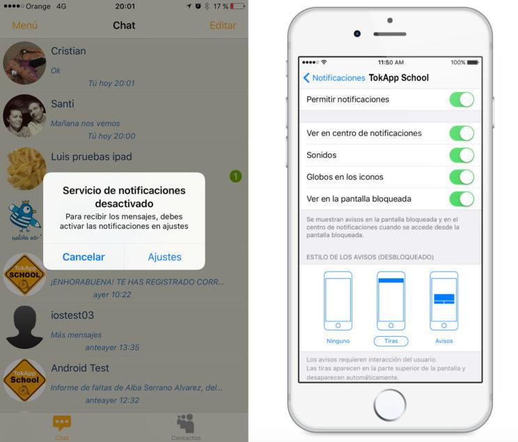 App notificaciones iPhone