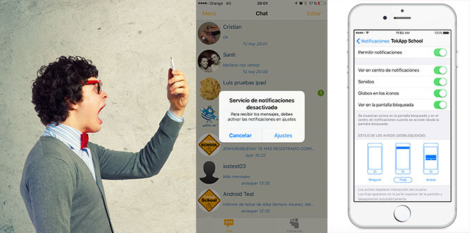 5 problemas comunes con las notificaciones de TokApp School