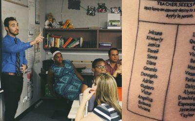 Tatuarse el nombre de sus alumnos, la curiosa forma de motivar de un profesor