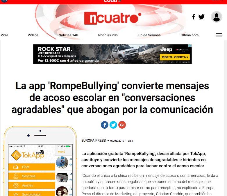RompeBullying por TokApp en Noticias Cuatro