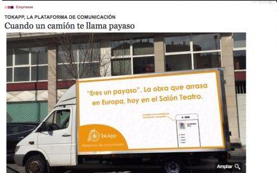El camión de TokApp promociona las suscripciones