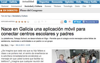 TokApp en Faro de Vigo