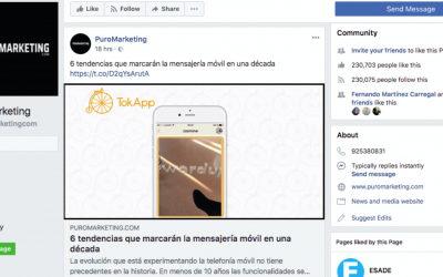TokApp en PuroMarketing Facebook