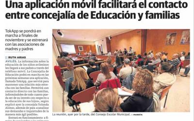 TokApp en la concejalía de Educación de Avilés