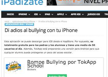 RompeBullying de TokApp en iPadizate