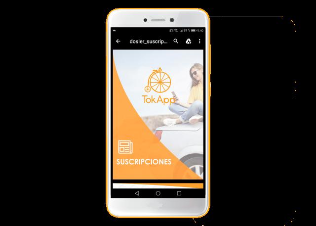 Abrir PDF móvil con app de mensajería instantánea