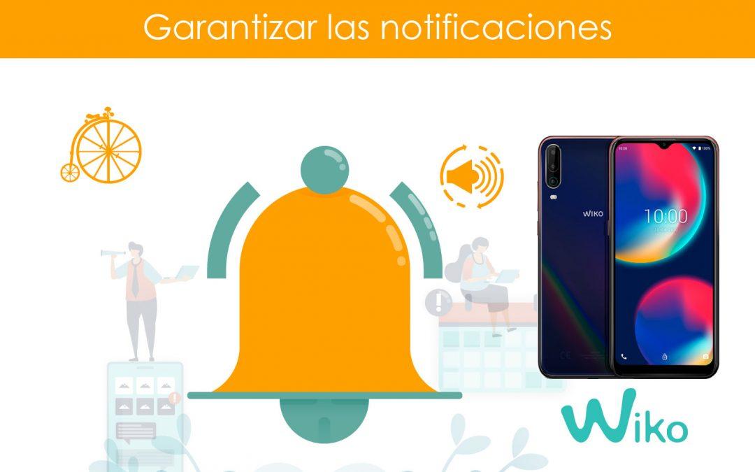 Garantizar notificaciones en teléfonos Wiko