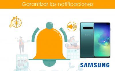 Garantizar notificaciones en teléfonos Samsung
