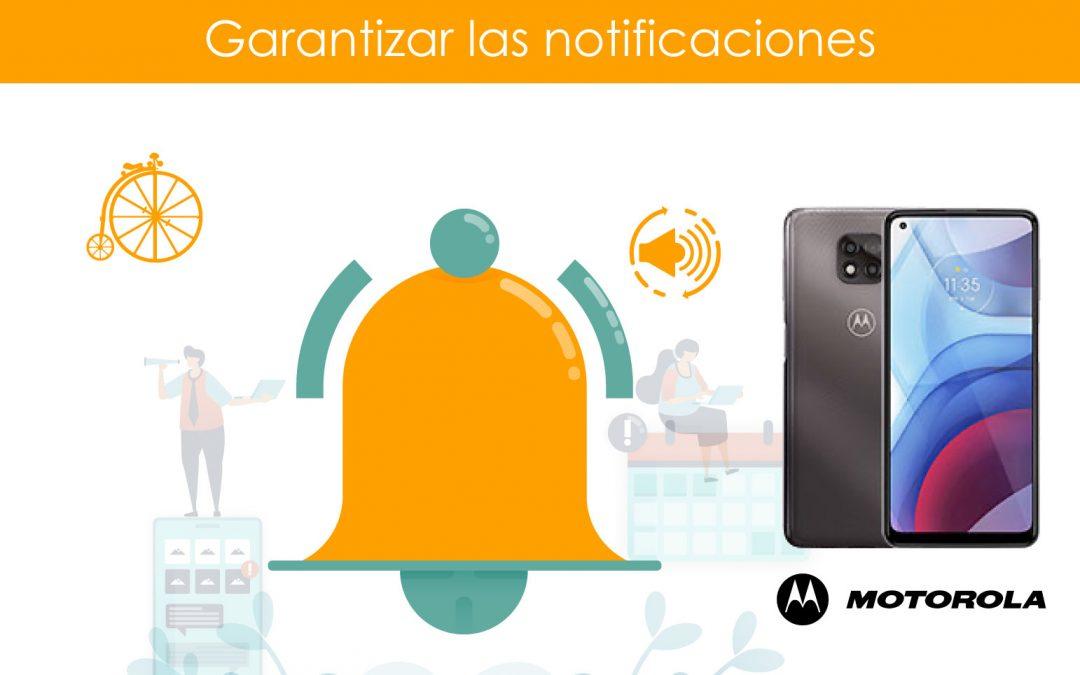Garantizar notificaciones en teléfonos Motorola