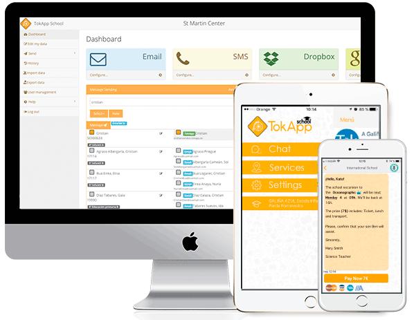 Mejora la comunicación con los profesores de tu centro educativo, con TokApp School. App móvil y plataforma web.