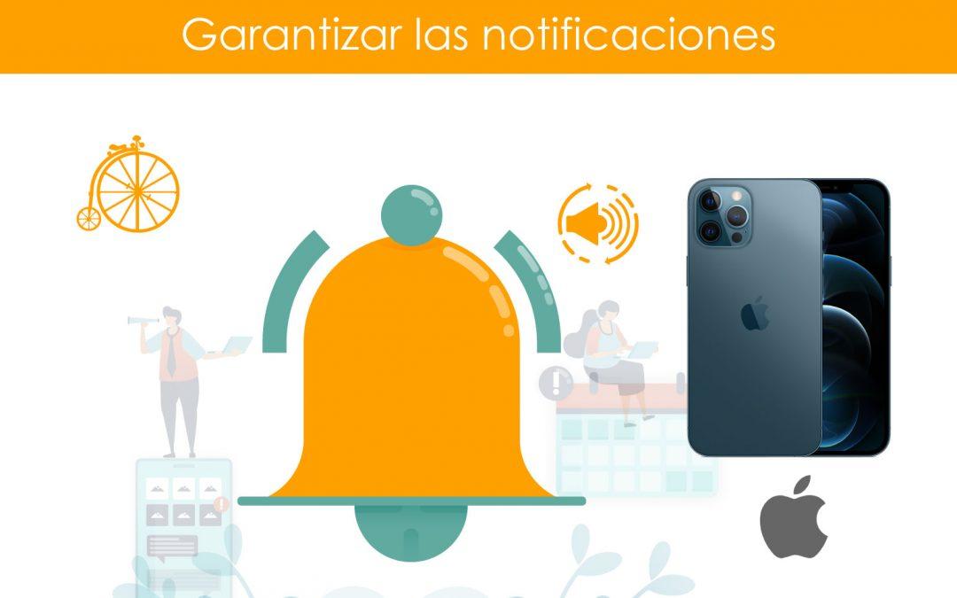 Garantizar notificaciones en teléfonos iPhone
