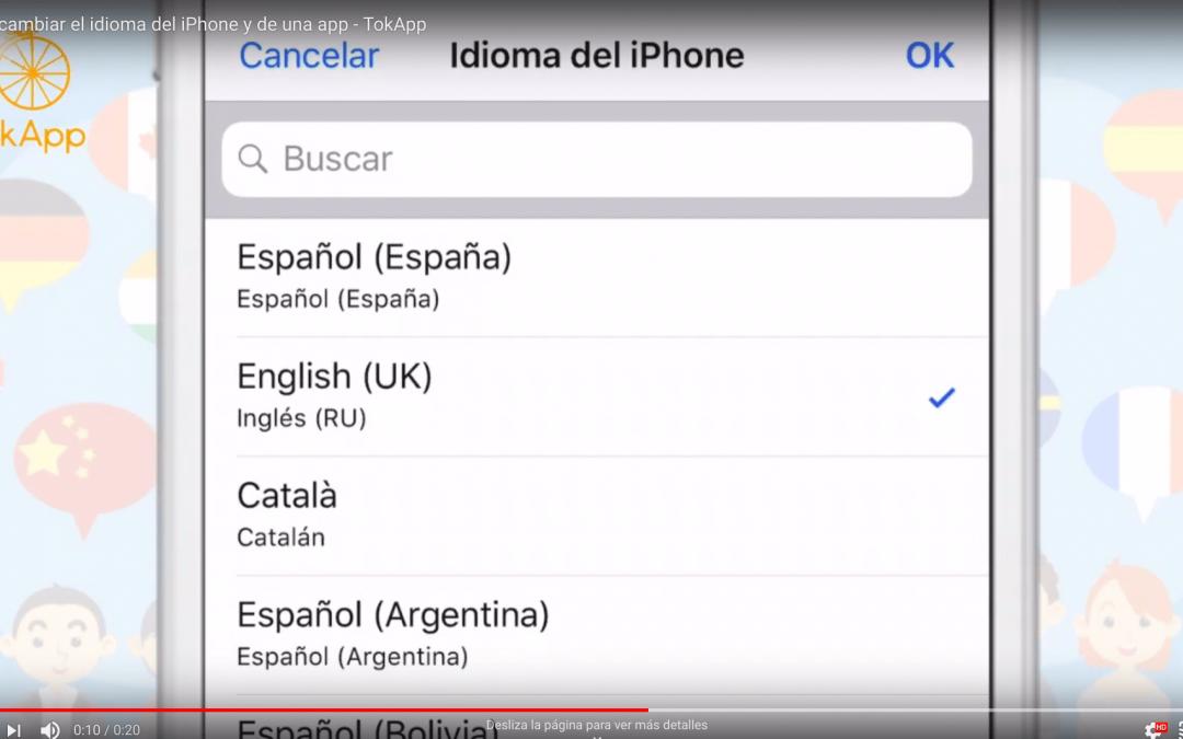 Cambiar idioma iPhone: videotutorial