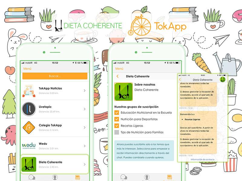 Dieta Coherente – La suscripción de TokApp más saludable