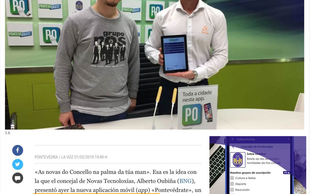Concello de Pontevedra con TokApp