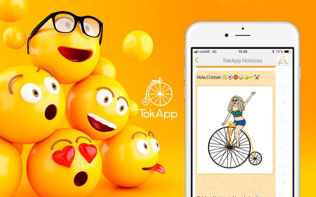 Enviar imágenes y emojis por TokApp