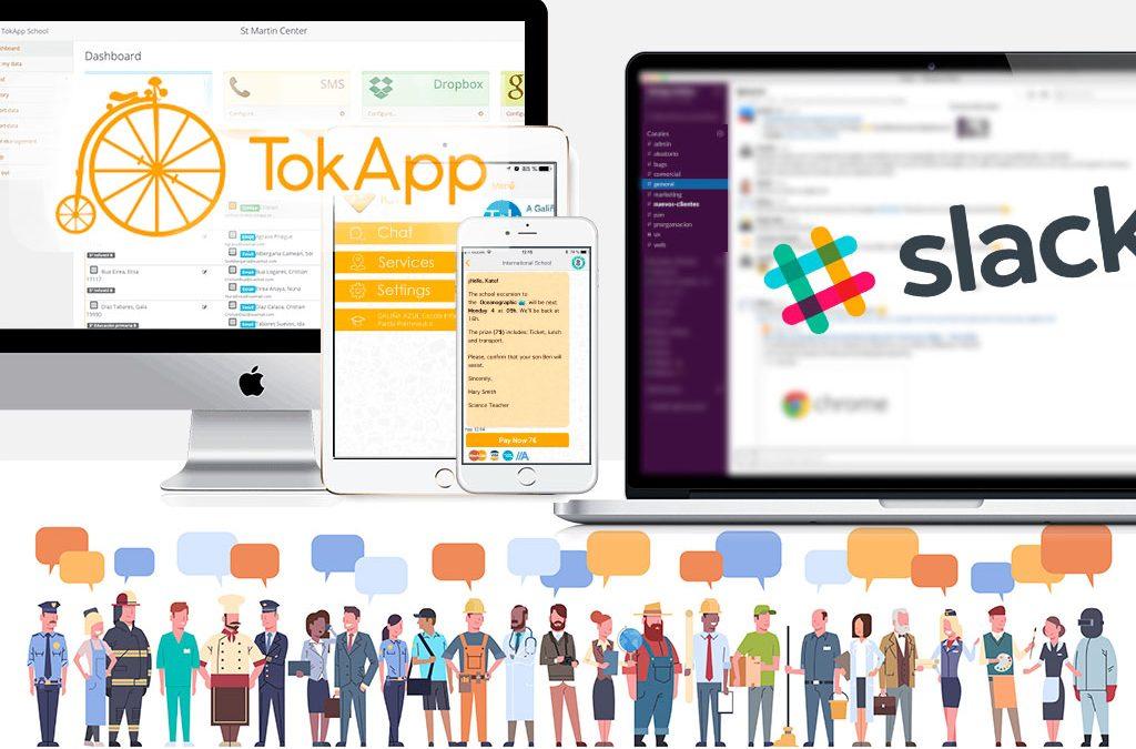 Apps de mensajería: Diferencias entre Slack y TokApp