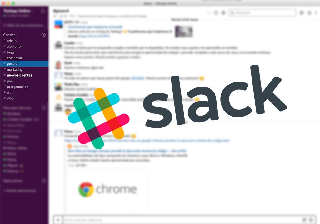 slack y tokapp chat
