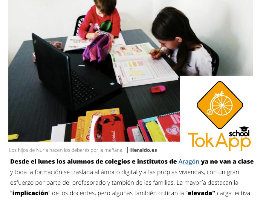 TokApp en Heraldo Aragón