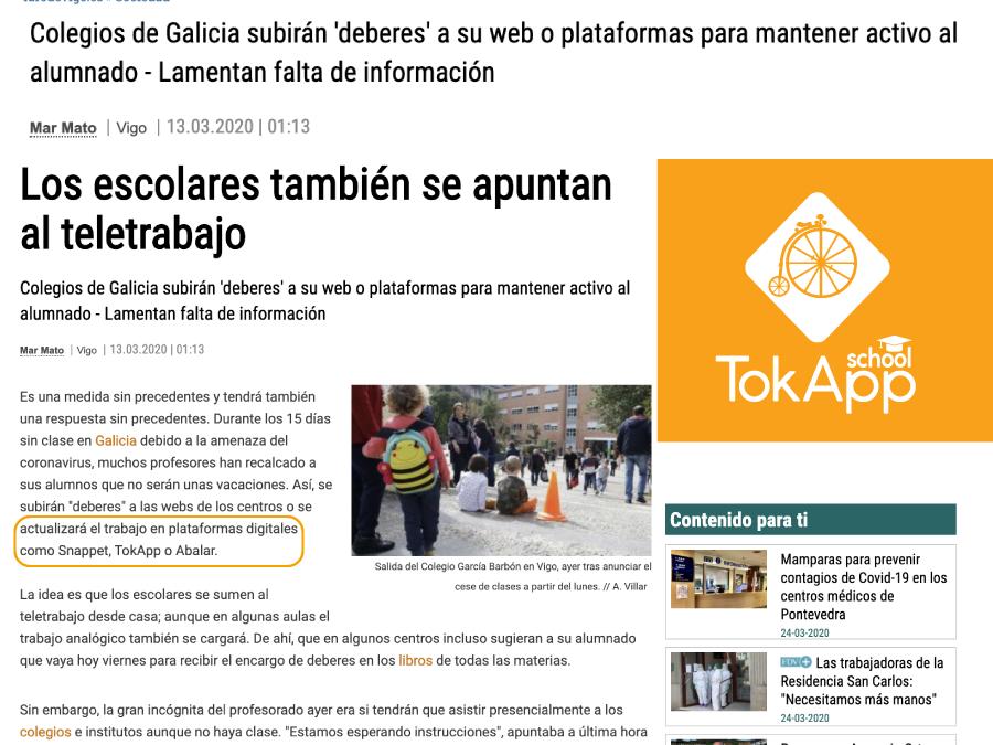 TokApp en el Faro de Vigo