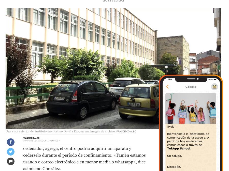 TokApp School en La Voz de Galicia