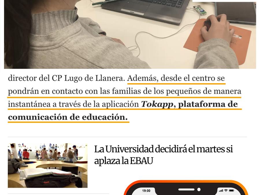 TokApp en la prensa asturiana