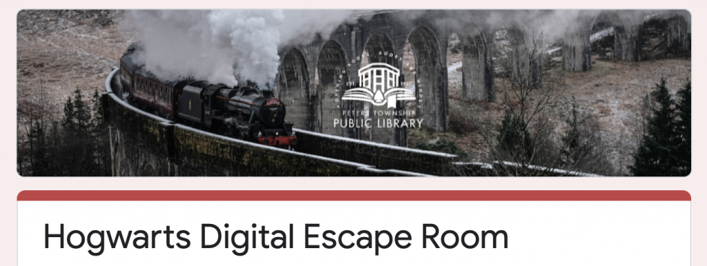 Hogwarts Digital Escape Room