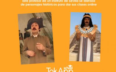 Un profesor se disfraza de personajes de época para dar sus clases de historia