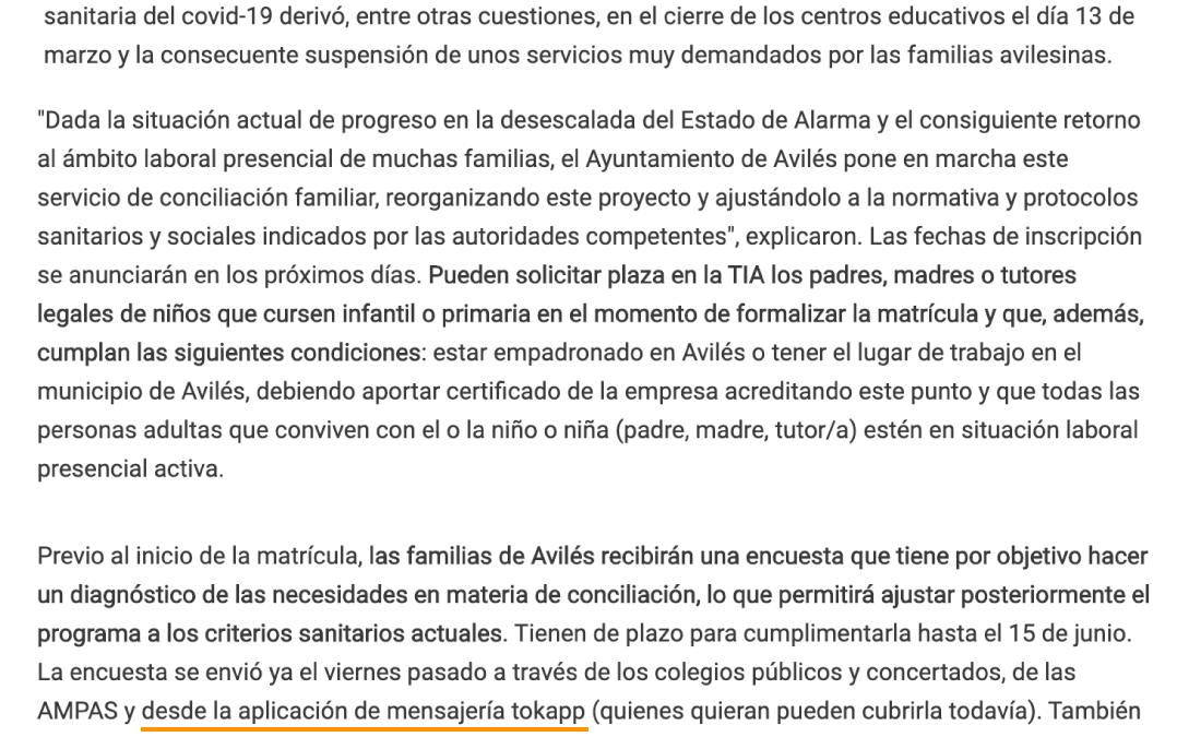 TokApp en La Nueva España