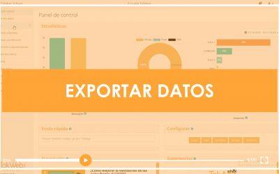 [VIDEOTUTORIAL] Exportar datos