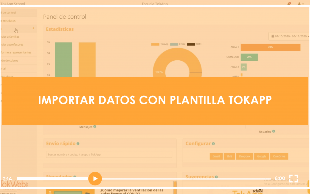 [VIDEOTUTORIAL] Importar Datos con Plantilla TokApp