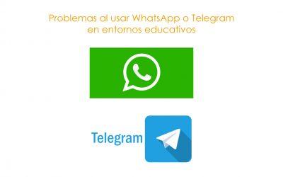 Problemas al usar WhatsApp o Telegram en entornos educativos