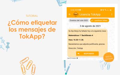 Tutorial: ¿Cómo etiquetar mensajes de TokApp?